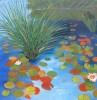 SOLD.  Pond 2. Oil. 36x36x1.5.