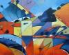 """Fractured Landscape, 24""""x24"""", Oil, Sold"""