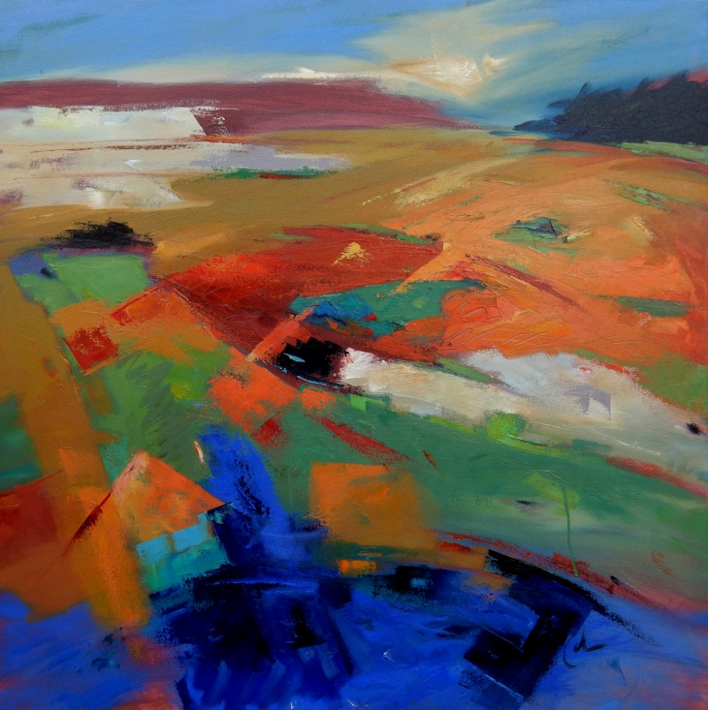 landforms/suggestion of place, 36x36, $1875